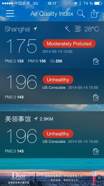 Luftkvalitet i Shanghai