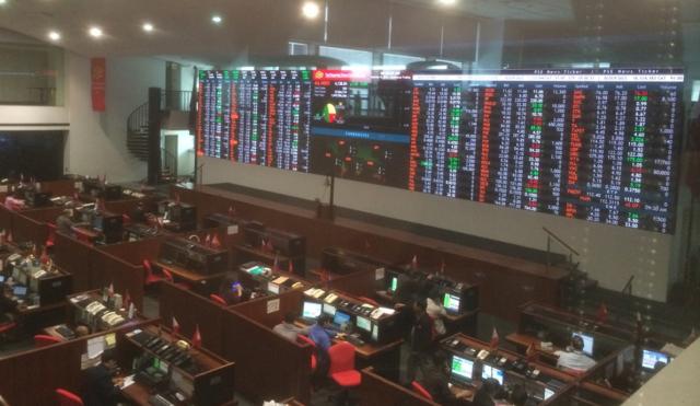 Trading floor på Asia's eldste børs